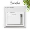 Rachelle | White and Gold Wedding Guest Book