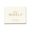 Classic Hello World | Ivory & Gold Baby Shower Guest Book