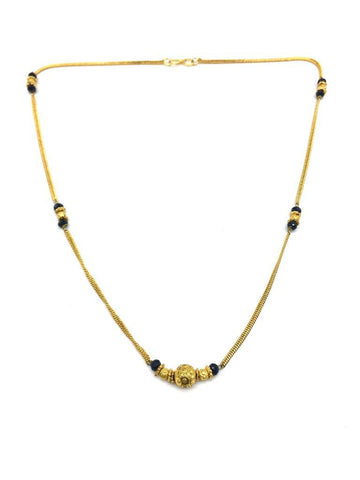 Gold  and  Black Color Special Alloy Mangalsutra  - 1407N141