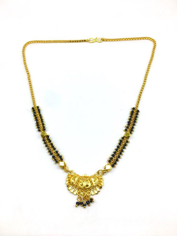 Gold  and  black Color Special Alloy Mangalsutra  - 1407N143