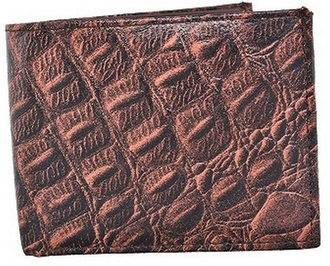 Brown Color Leather Mens Embossed Wallet - 528ZCBROWN