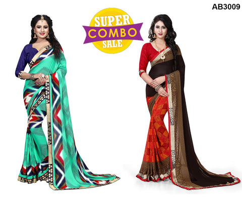 COMBOS-Georgette Sarees - ON-107 , ON-105