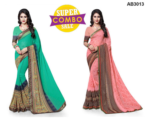 COMBOS-Georgette Sarees - ON-119 , ON-118