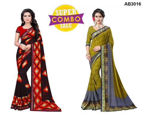 COMBOS-Georgette Sarees - ON-125 , ON-124