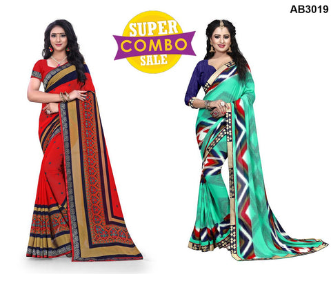 COMBOS-Georgette Sarees - ON-105  ,ON-131