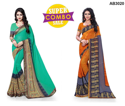 COMBOS-Georgette Sarees - ON-132 , ON-118