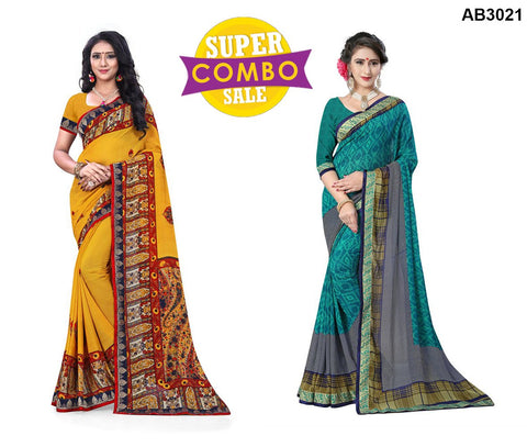 COMBOS-Georgette Sarees - ON-126 , ON-133
