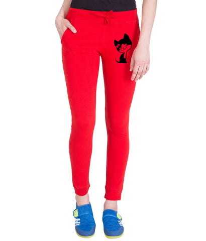 AMERICAN ELM-Red  Color Cotton Track Pant  - AE-PWL-211