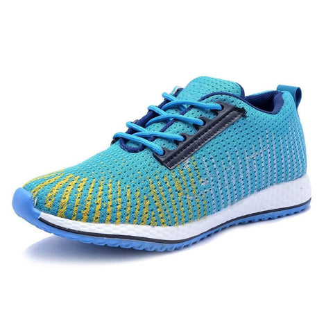 Sky Blue Color Mesh Men Sports Shoes - AGARWALS-23014