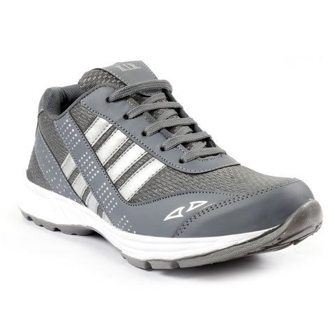 Grey Color Mesh Men Sports Shoes - AGARWALS-23022