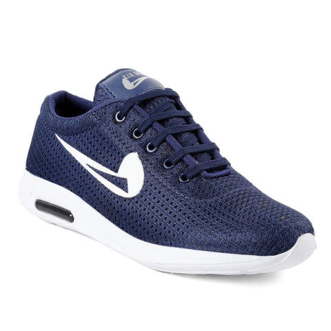 Blue Color Mesh Sports Shoes - AGW-23005