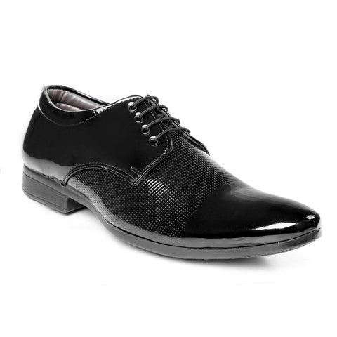 Black Color Denim Formal Shoes - AGW-23007