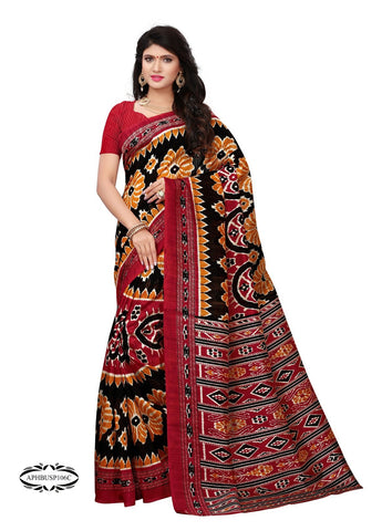 Black  Color Art Silk Saree - APHBUSP106C