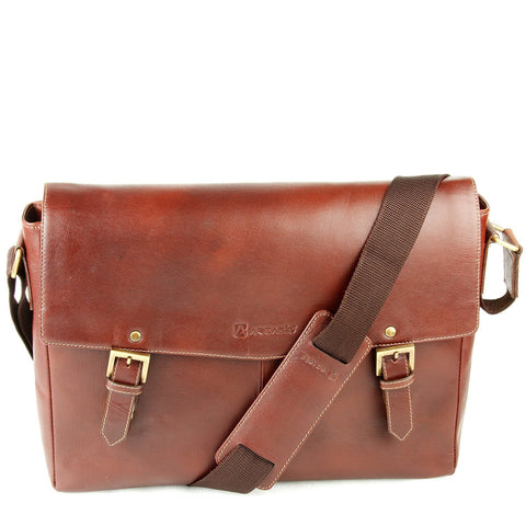 Brown  Color Pure Leather Men's Business Bag - ARBB1015BR
