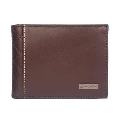 Brown  Color Pure Leather Men's Wallet - ARW1001BR