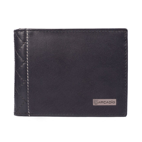 Navy Color Pure Leather Men's Wallet - ARW1001NV