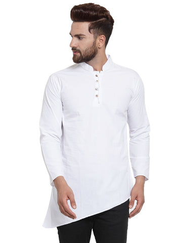 White Color Cotton Men's Shirt  - CM-KR21