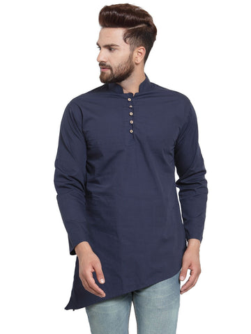 Navy Blue Color Cotton Men's Shirt  - CM-KR22