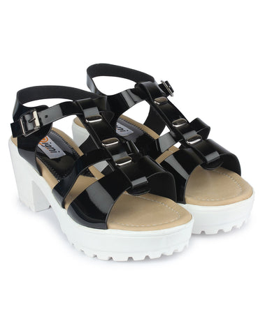 Black  Color Fabric Sandal - DDWF-GA-01-BLACK