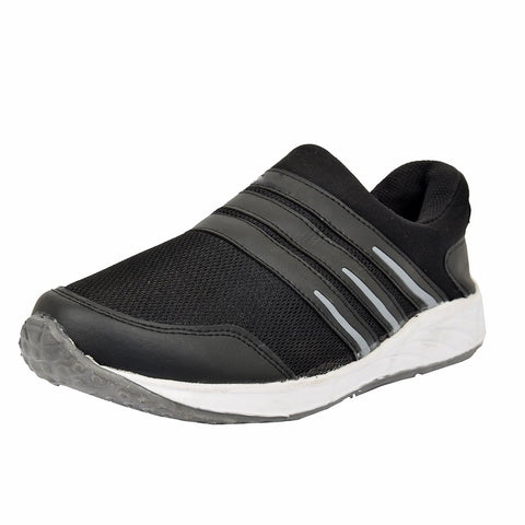 Black Color Mesh Men's Sports Shoes - DHL-BLACK