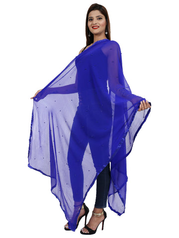 Royal Blue Colour Chiffon Dupatta- Dup0658