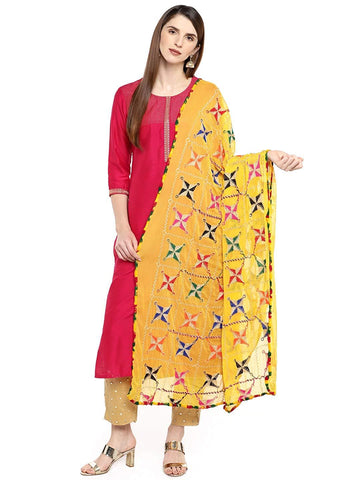 Yellow Colour Chiffon Dupatta- DUP0685