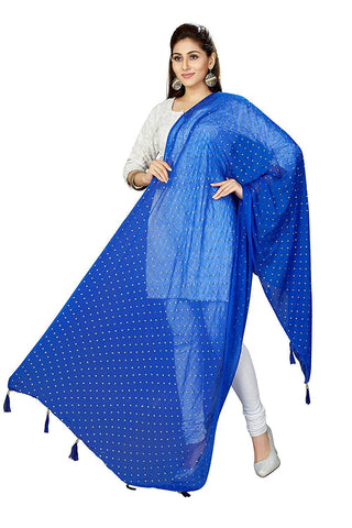 Royal Blue Colour Chiffon  Dupatta- DUP0687