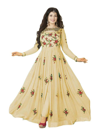 Beige Color 60grm Georgette Un Stitched Salwar - F1111