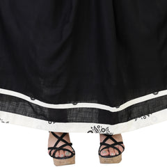 White Color Cotton Women's Skirt with Top - FBWC__10