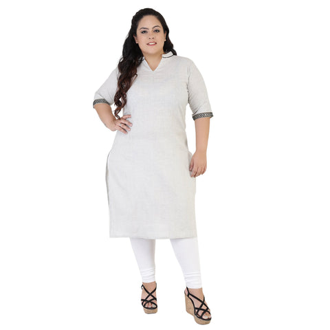 Light Grey Color Rayon Women's Stitched Kurti - FBW_39