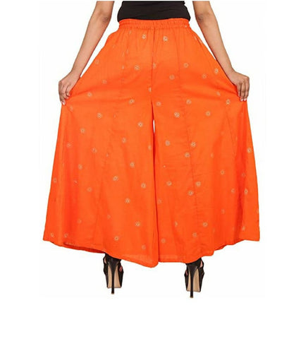 Orange Color Rayon Women's Palazzo - FPL0024