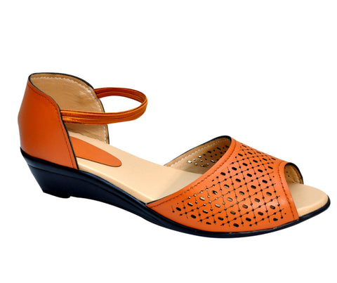 Orange Color Synthetic Women's Flats - FROBIE-13