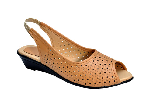 Cream Color Synthetic Women's Flats - FROBIE-20