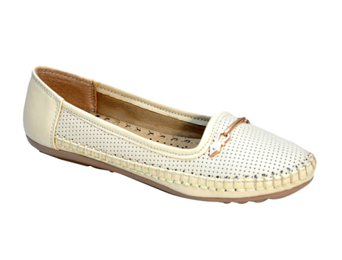 Beige Color Synthetic Women's Bellies - FROBIE-27