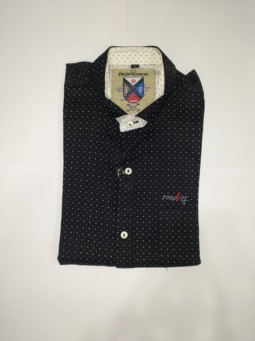 Black Color Cotton Men's Shirt - Fashiontree08
