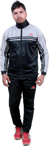 Black Color Poly Cotton Mens Track Suit - HPSTK01