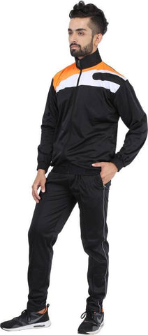 Black Color Poly Cotton Mens Track Suit - HPSTK03
