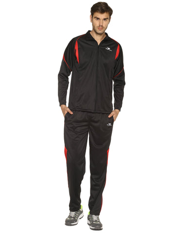 black Color Polyester Men's Track Suit - HPSTK07
