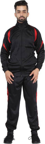 Black Color Poly Cotton Mens Track Suit - HPSTK07