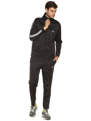 Black Color Polyester Men's Track Suit - HPSTK11