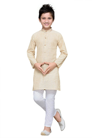 Cream Color Cotton Kurta Pyjama - IP101