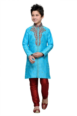 Firoji Color Art Silk Kurta Pyjama - IP115