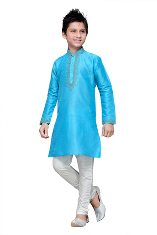 Firoji Color Art Silk Kurta Pyjama - IP150