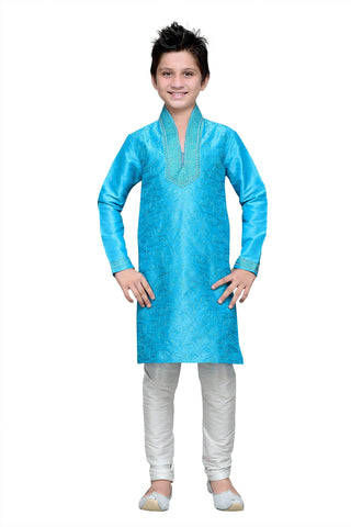 Firoji Color Art Silk Kurta Pyjama - IP186