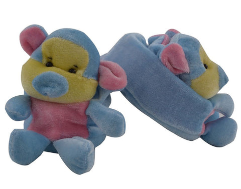 Sea Blue Color Soft Cotton Monkey Baby Booties for New Born Baby - JMA-504