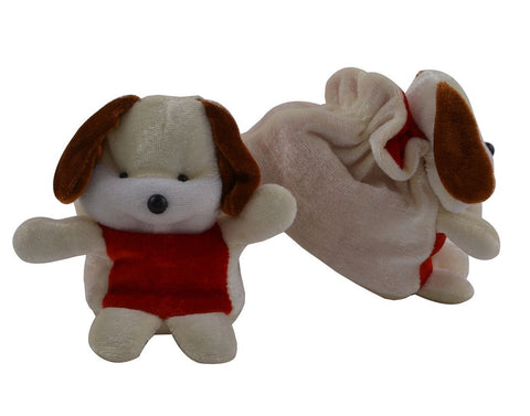 White Color Soft Cotton Puppy Baby Booties for New Born Baby - JMA-505