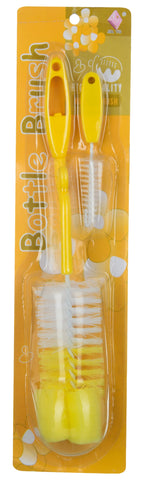 Yellow Color Plastic Bottle Brush for Baby  - JMA161