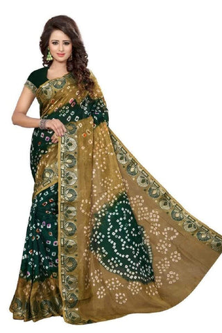 Multi Color Art Silk Saree - JNNAVRANG-5