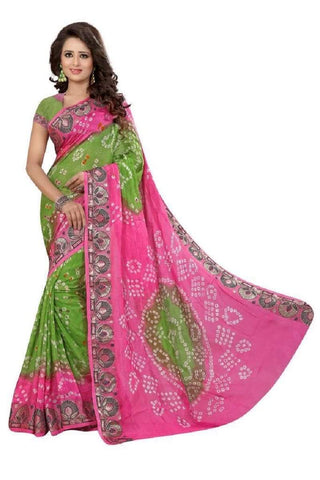 Multi Color Art Silk Saree - JNNAVRANG-7