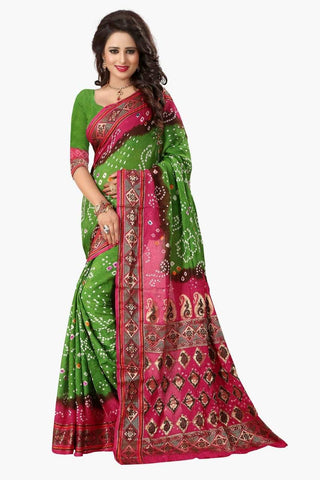 Multi Color Art Silk Saree - JNavrang-2